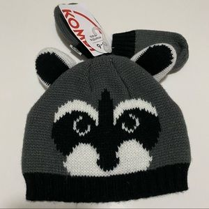 Raccoon hat and mitten set (0-6months)